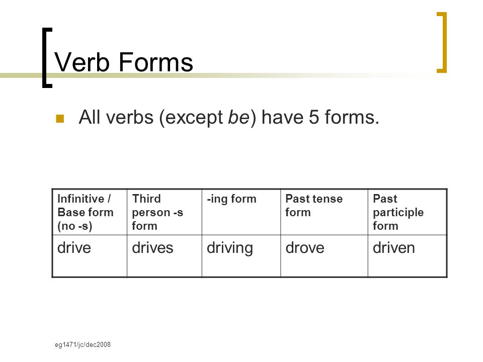 Verb Forms. - ppt download