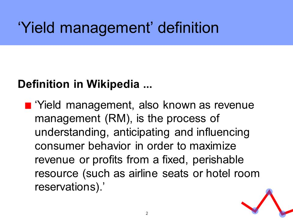'Yield management' definition