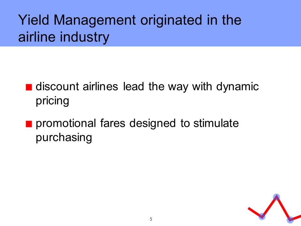 Yield Management originated in the airline industry