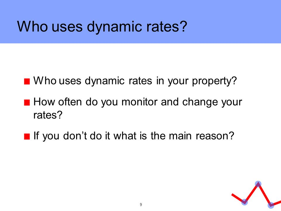 Who uses dynamic rates Who uses dynamic rates in your property