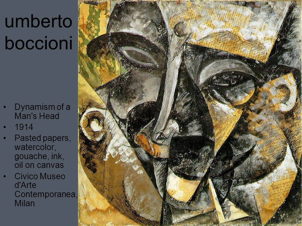 umberto boccioni essay Umberto boccioni was born on october 19, 1882, in reggio calabria, italy in 1901 he went to rome, where he studied design with a sign painter and attended the scuola .