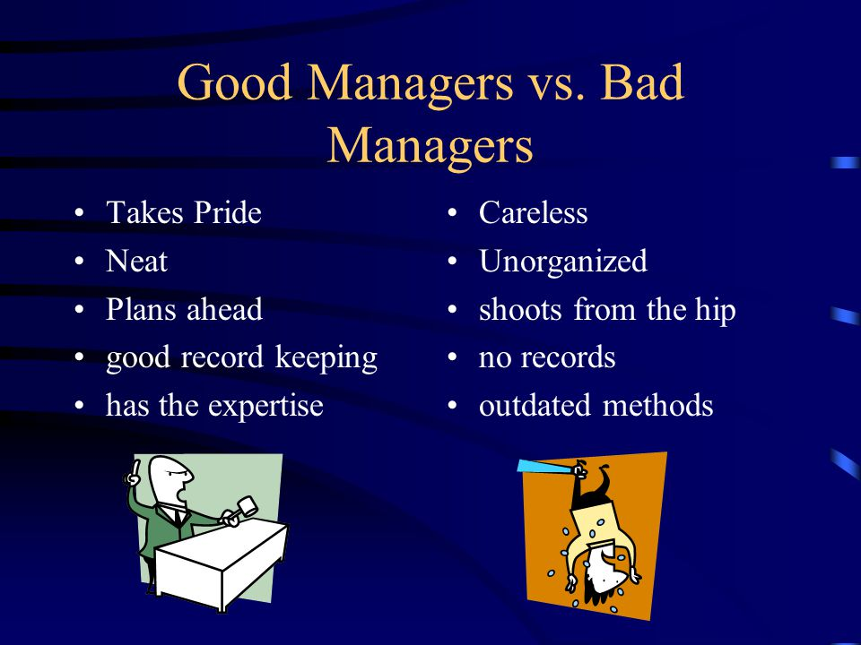 good office manager compared to negative director essay