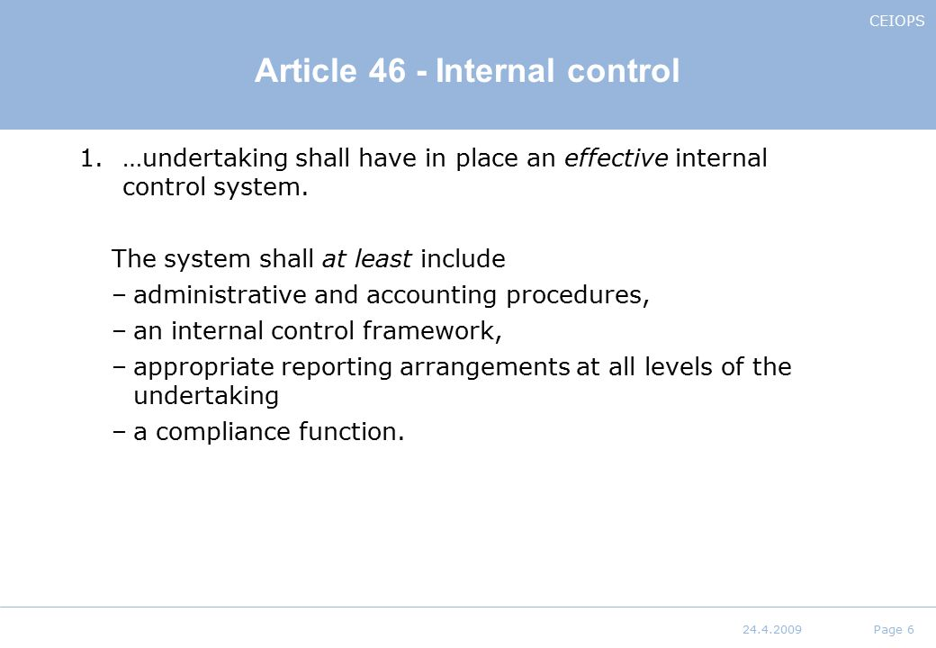 a discussion of internal controls that are placed in an accounting information system The company's financial statements and internal controls, the  a guide for audit committees helping you to  accounting or internal control over.