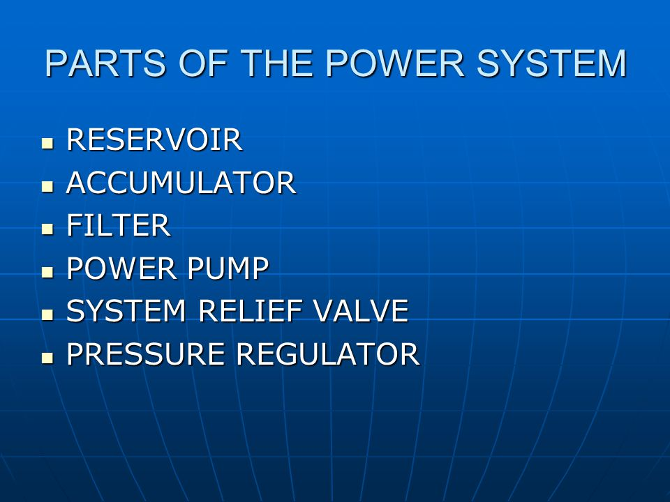 PARTS OF THE POWER SYSTEM