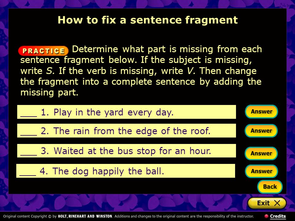 how to avoid sentence fragments