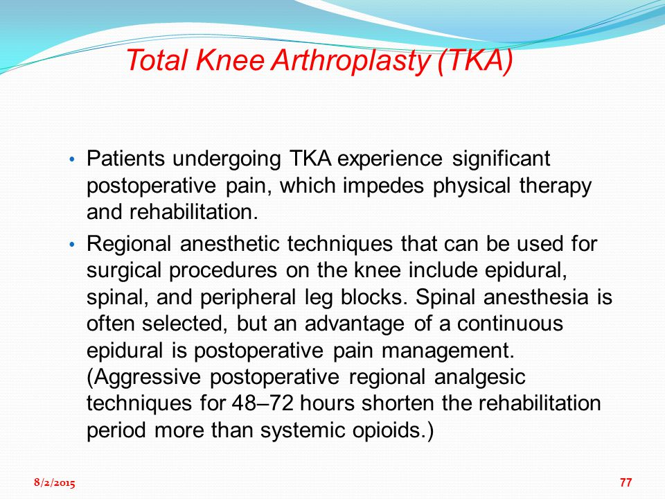 Anesthesia For Orthopedic Surgery Ppt Download