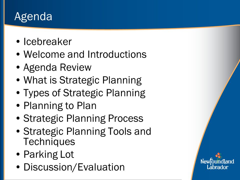 Agenda Icebreaker Welcome and Introductions Agenda Review