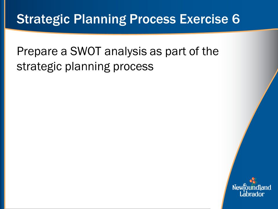 Strategic Planning Process Exercise 6