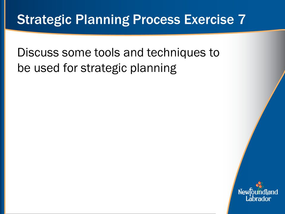 Strategic Planning Process Exercise 7
