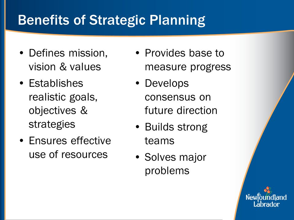 The benefits of strategic planning for your business