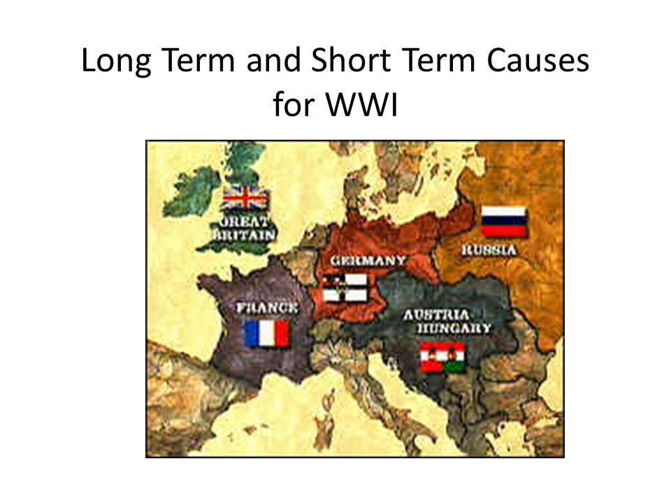 Short Term Causes Of World War 1