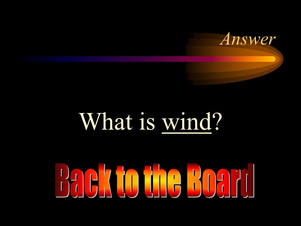 Answer What is wind Back to the Board