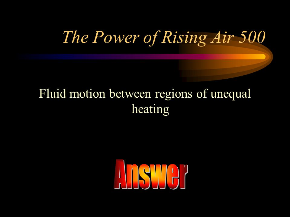 Fluid motion between regions of unequal heating