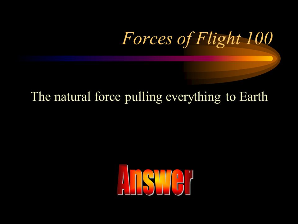 The natural force pulling everything to Earth