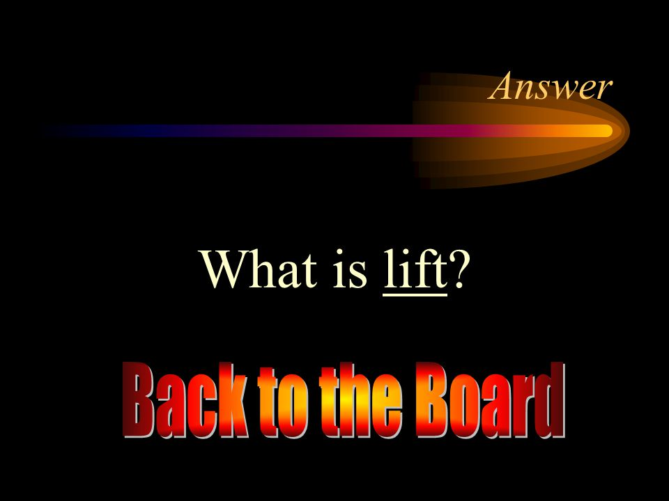Answer What is lift Back to the Board