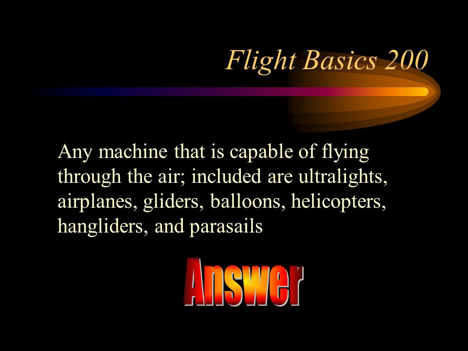 Flight Basics 200