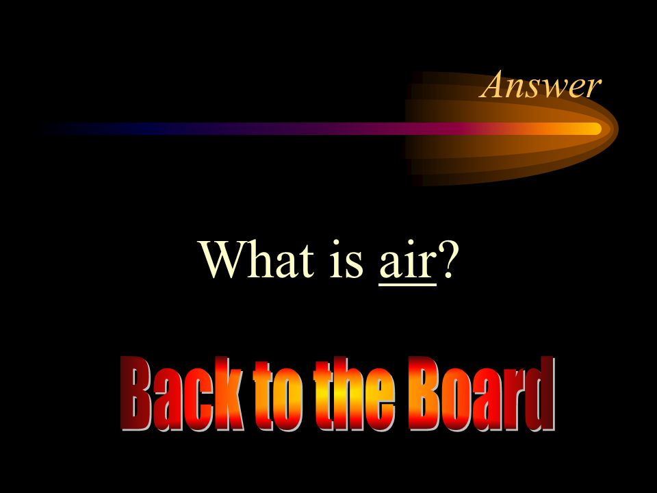 Answer What is air Back to the Board