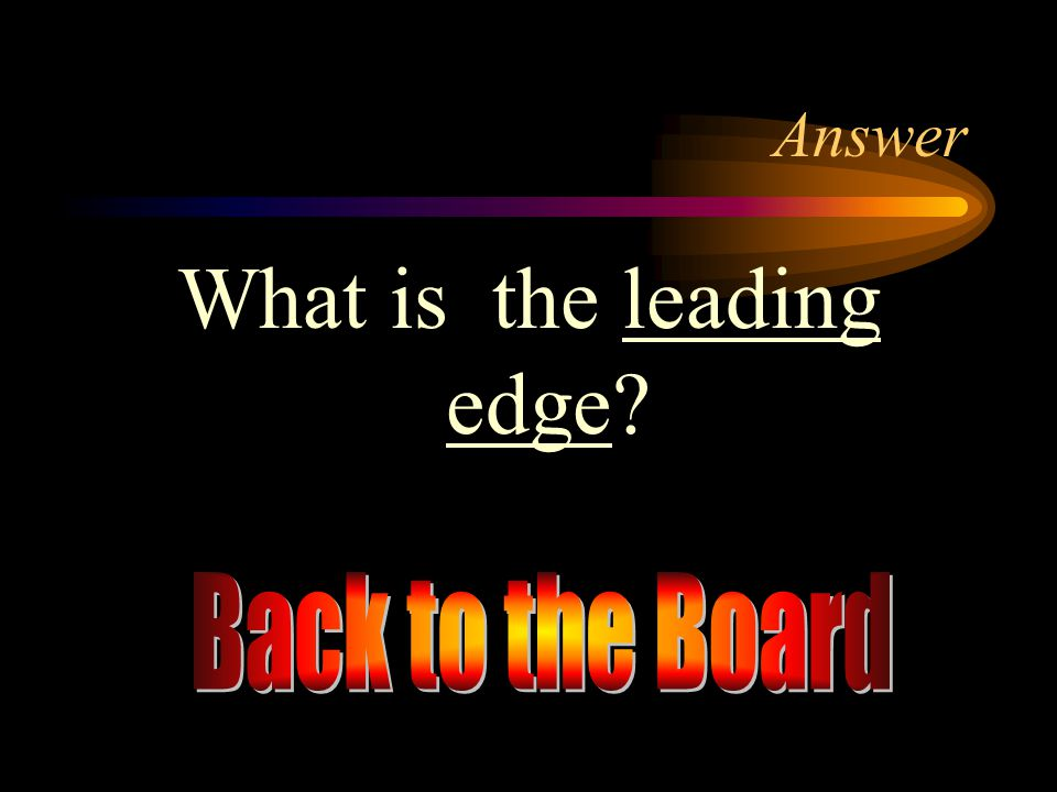 What is the leading edge