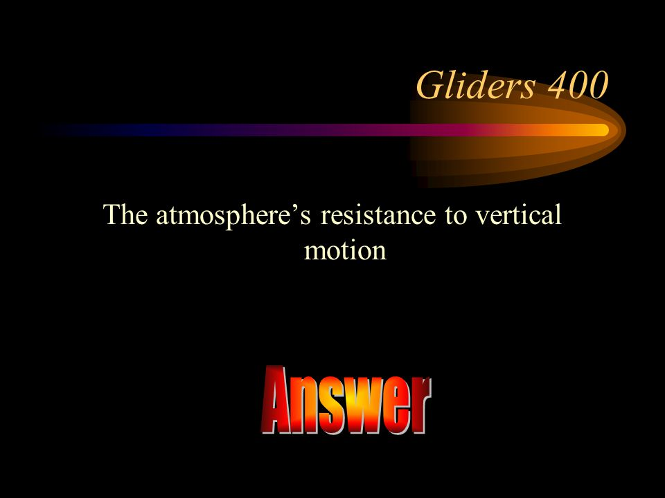 The atmosphere's resistance to vertical motion