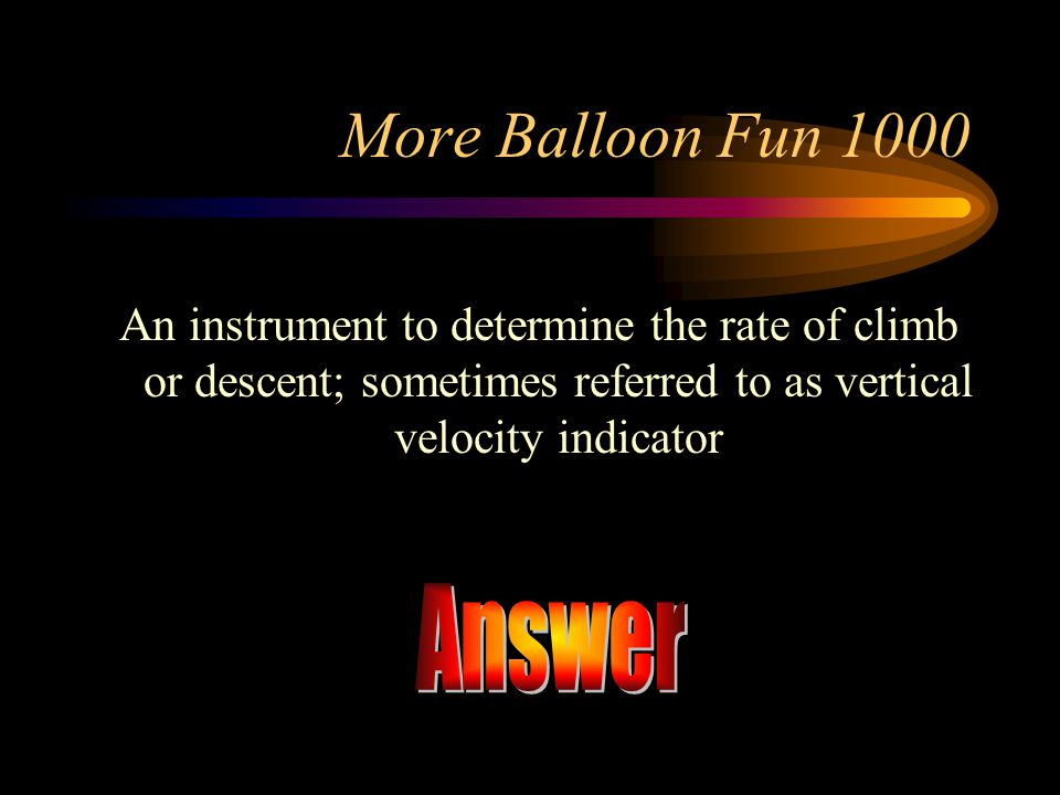 Answer More Balloon Fun 1000