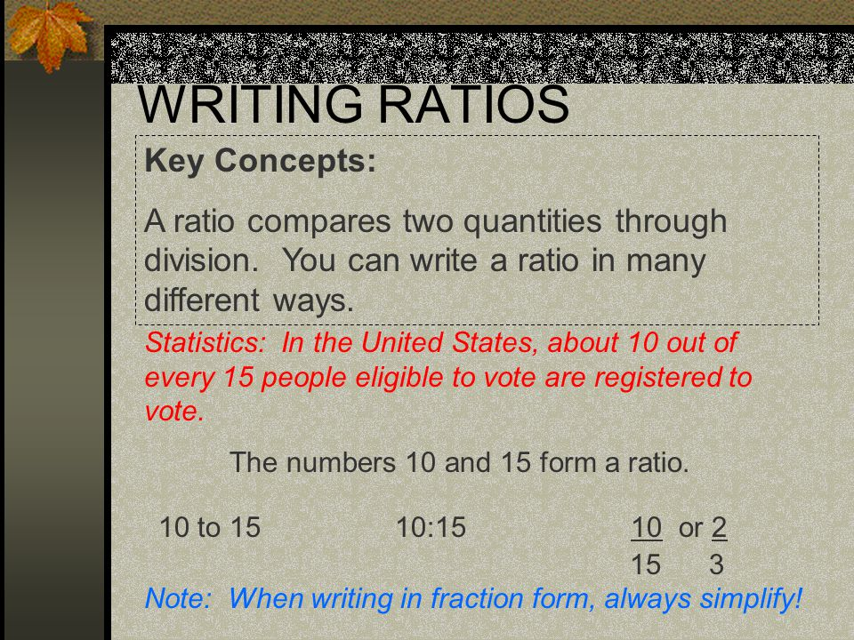 ways to write ratios Practice writing and using ratios to compare two compare two quantities with ratios these worksheets feature basic and free look carefully at each picture and answer the question about the ratio of objects write each ratio three different ways 6th grade ratio pets this.
