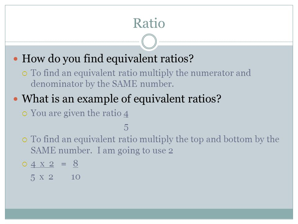 a ratio in which the units of numerator denominator are not the same is termed as a A unit rate is a ratio that has a denominator of 1 a unit rate is also called a unit ratio (they mean the same thing) \frac{5}{4} and 3:8 and 40\mbox{ to }10 are ratios, but they are not unit ratios \frac{125}{1} and 0375:1 and 4\mbox{ to }1 are unit ratios any ratio can be converted into a unit ratio by dividing the numerator and.