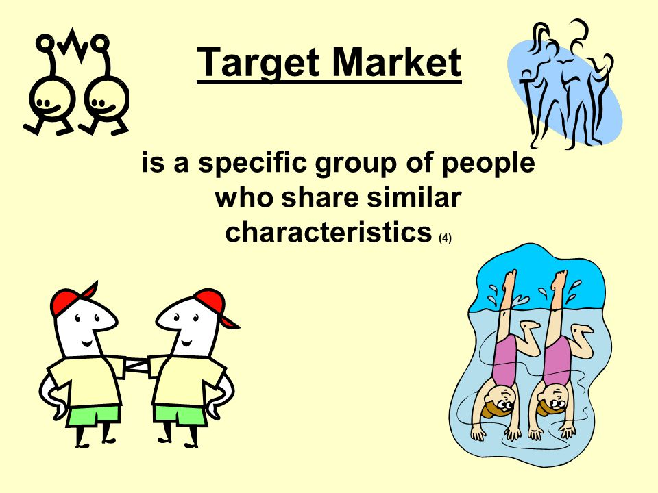 is a specific group of people who share similar characteristics (4)
