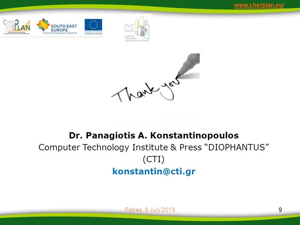 Dr. Panagiotis A. Konstantinopoulos