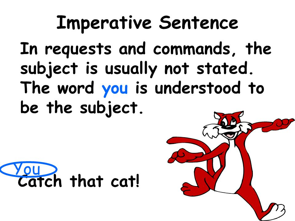 Sentence using noun as a subject?