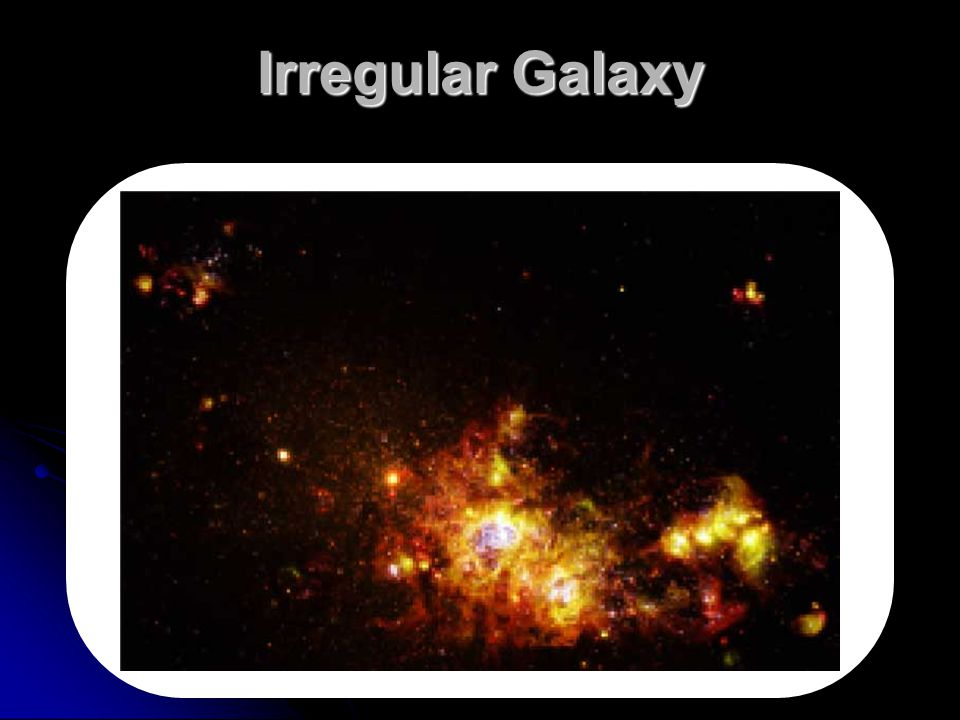 Irregular Galaxy Makes no sense without caption in book