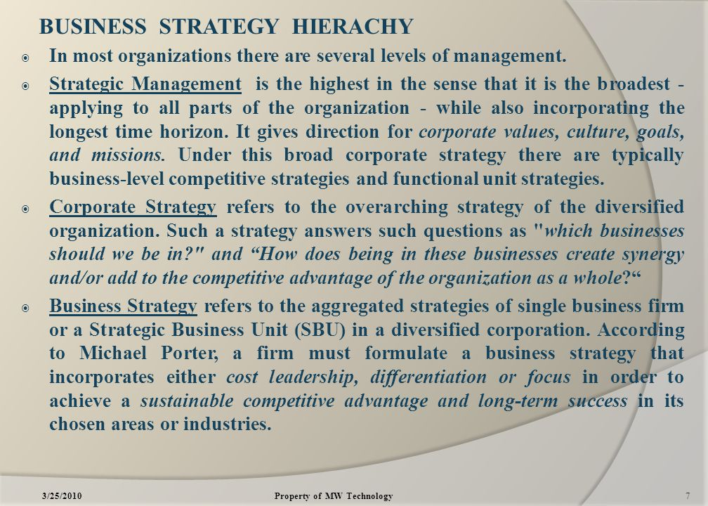 term paper on business strategy 31 objectives of the national small-business strategy  63 short-term:  paper on strategies for the development of an integrated policy and.