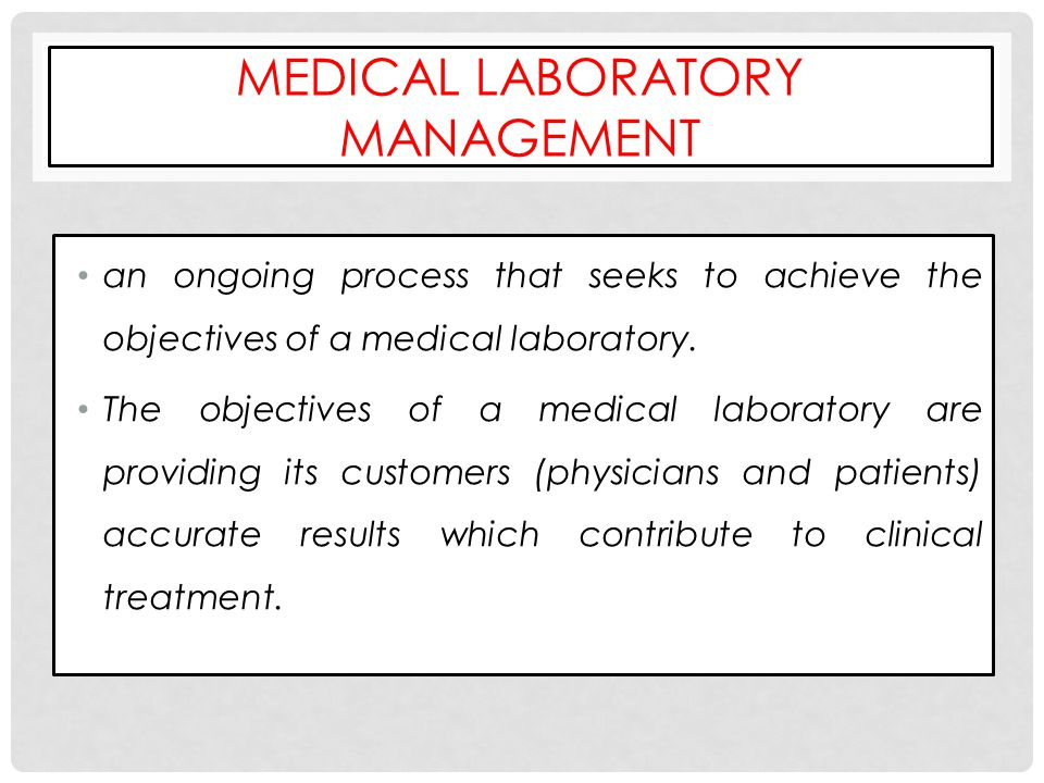 Medical Laboratory Management