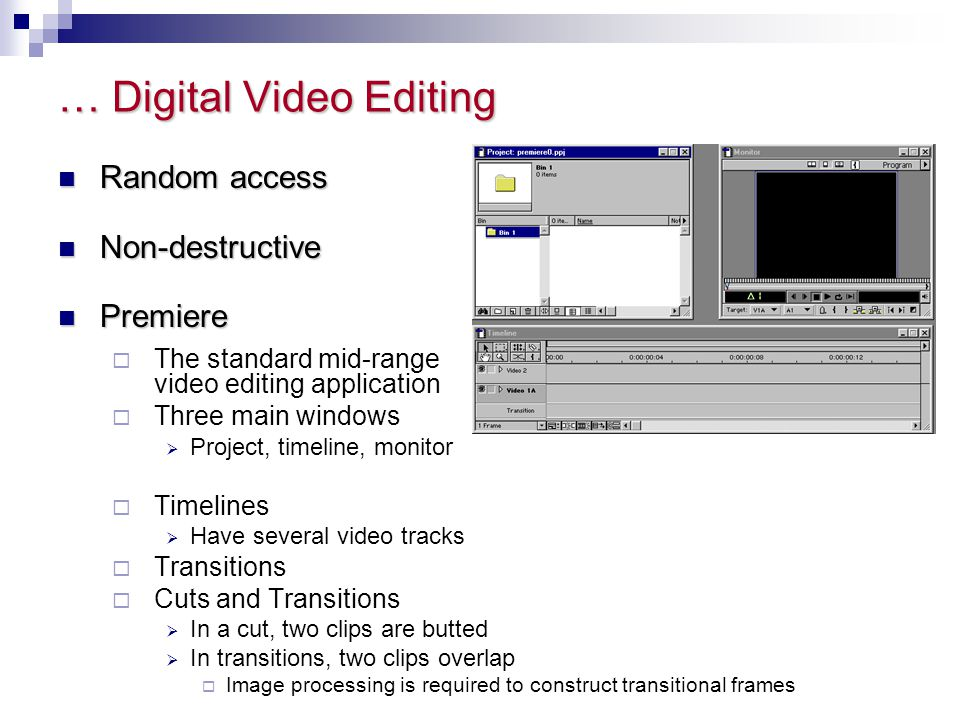 … Digital Video Editing