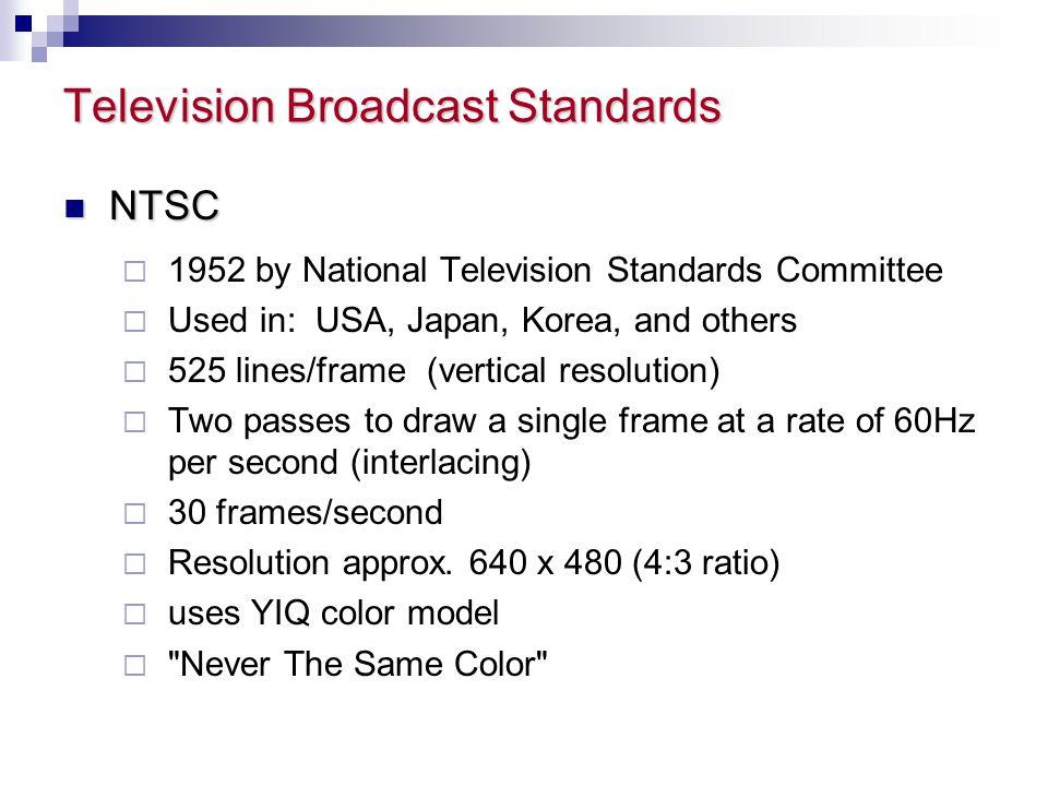 Television Broadcast Standards