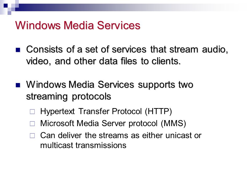 Windows Media Services