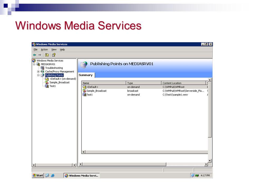Windows Media Services