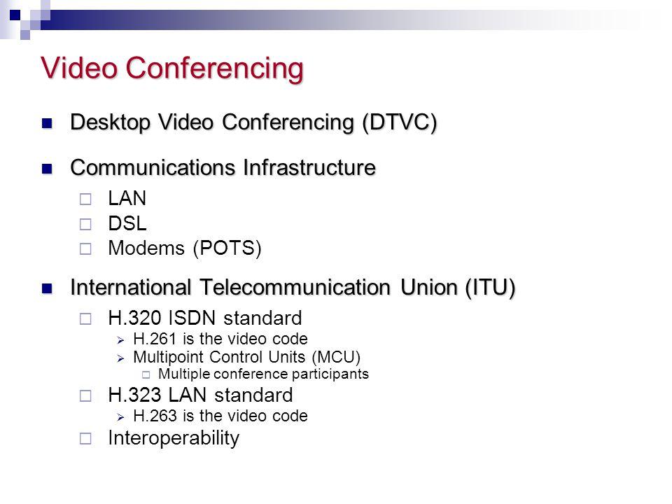 Video Conferencing Desktop Video Conferencing (DTVC)