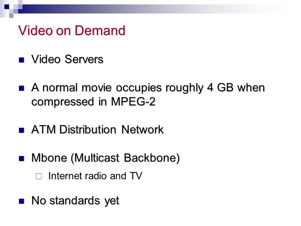Video on Demand Video Servers
