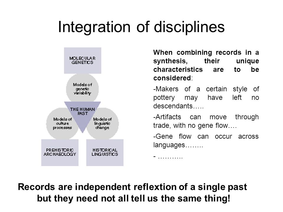 Integration of disciplines