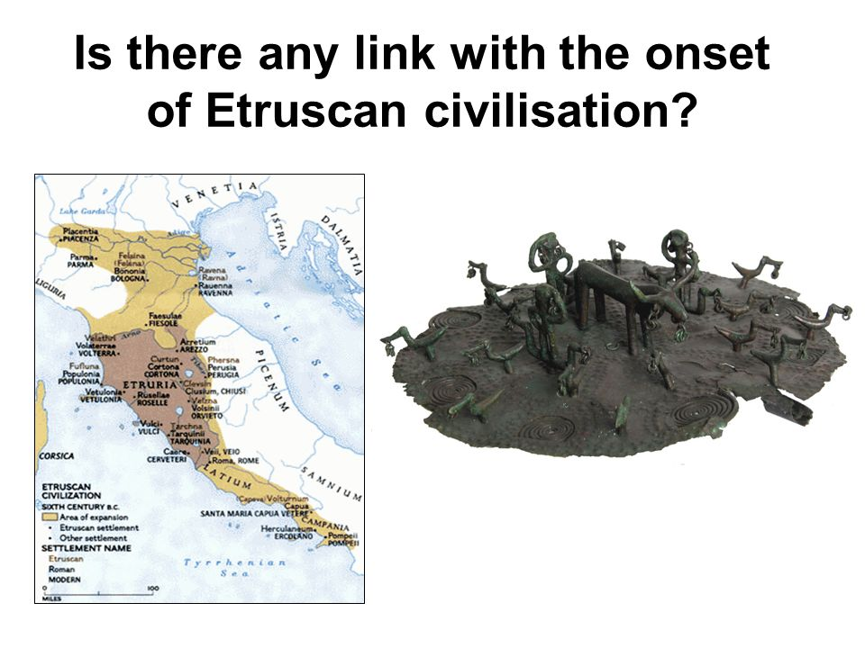 Is there any link with the onset of Etruscan civilisation