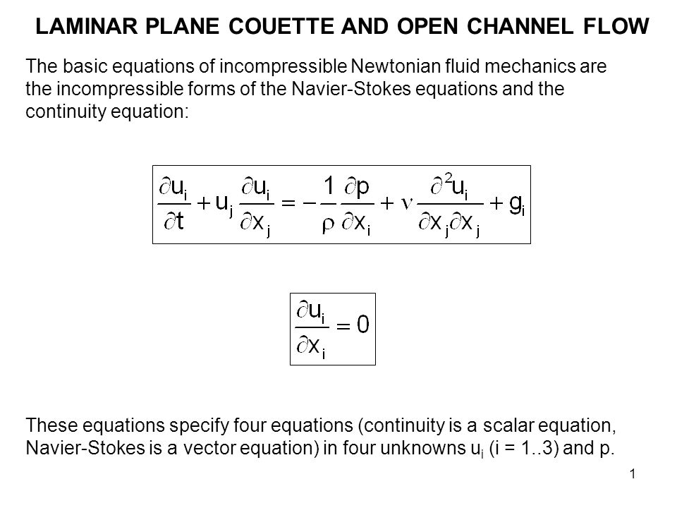 LAMINAR PLANE COUETTE AND OPEN CHANNEL FLOW ppt video online download