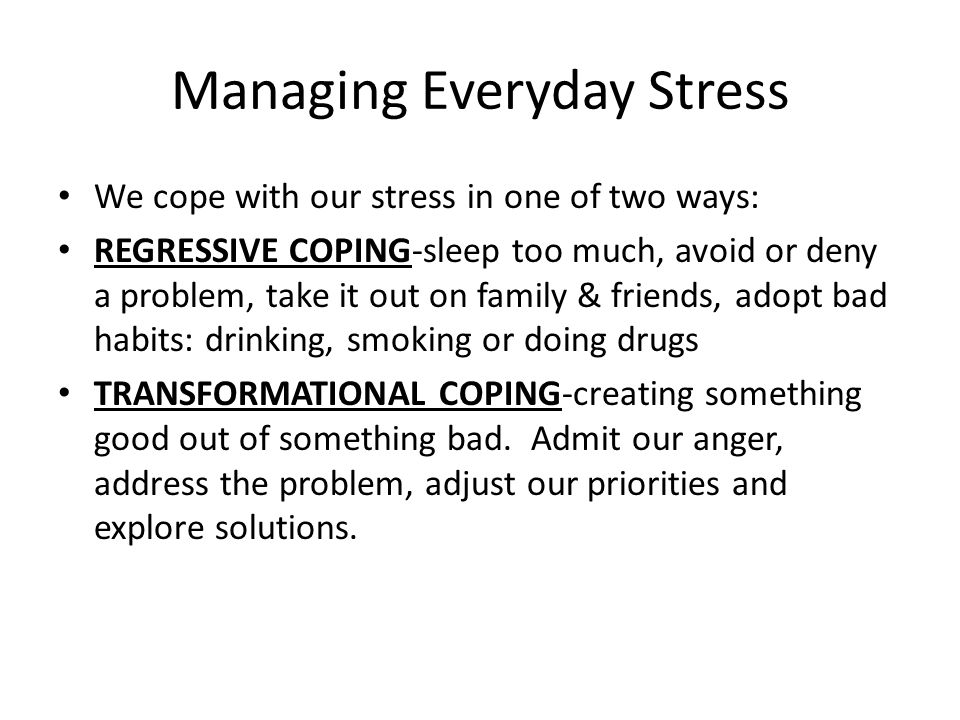 ways of managing stress in our However, even if it seems we're building a tolerance to stress, our nervous system is still dealing with an overload which can seriously affect overall health in the long run one of the most common physical reactions to stress is the tensing of muscles, which can ultimately trigger tension headaches, migraines and other musculoskeletal .