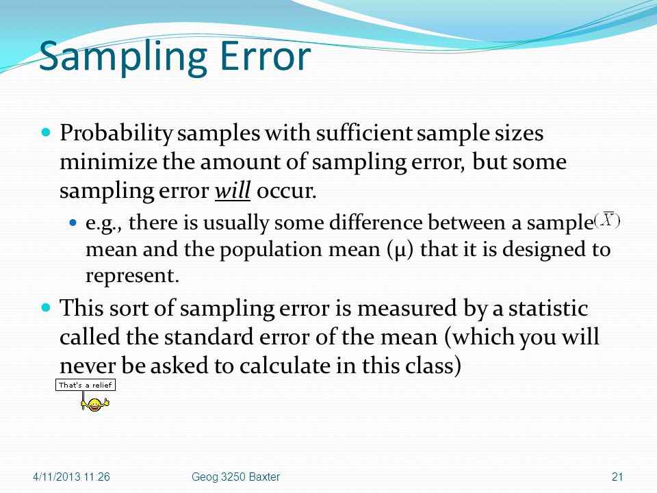 Sampling Chapter 12 4/11/ :26 Geog 3250 Baxter. - ppt download