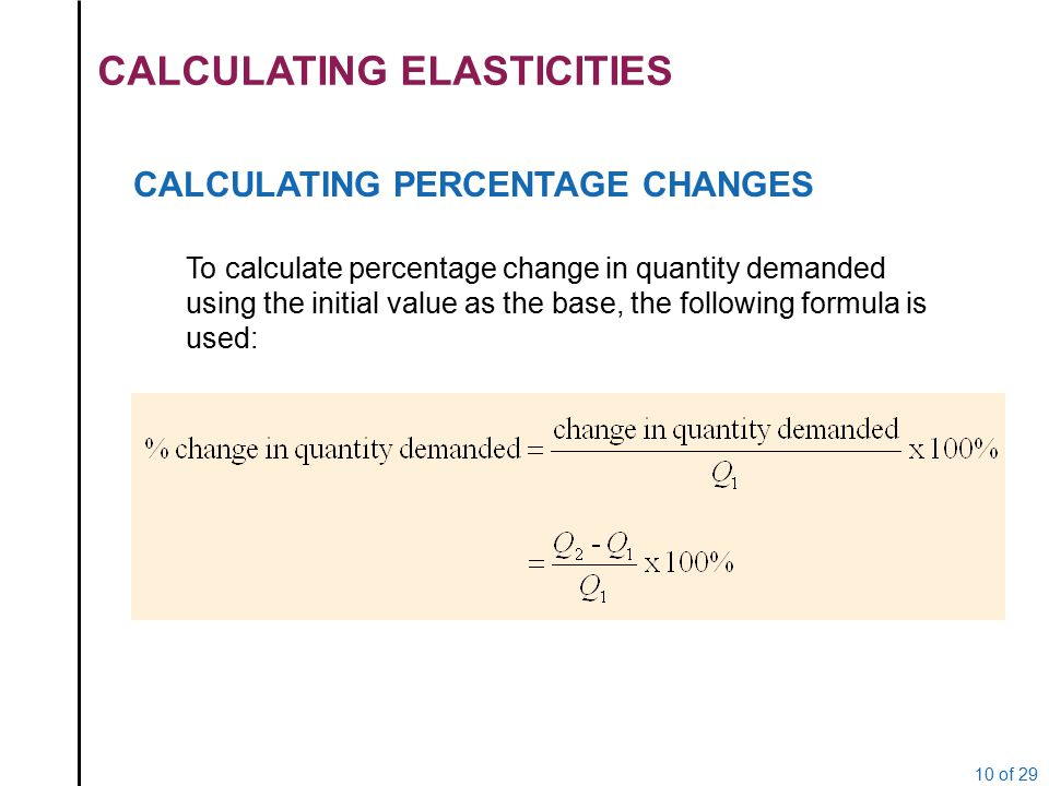 supply and demand and percentage change And quantities change as demand and supply change elasticity of demand and supply is greater than the percentage change in price, demand is said to.