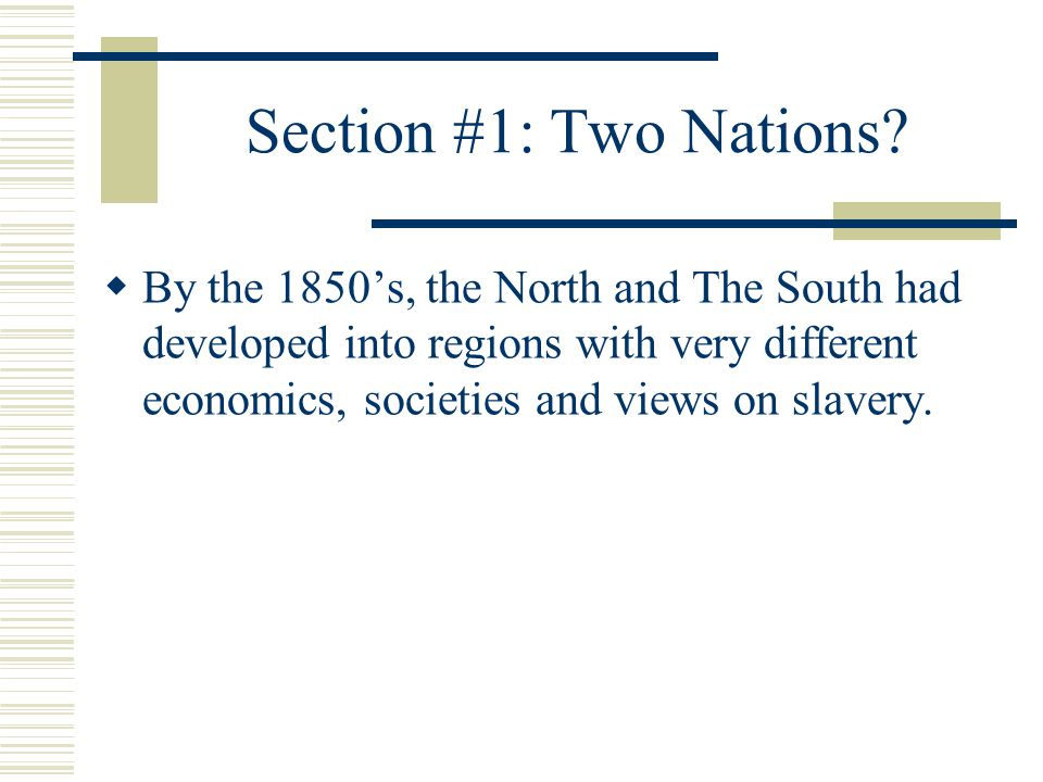 Chapter 10 U S History The Union In Crisis Vs Ppt
