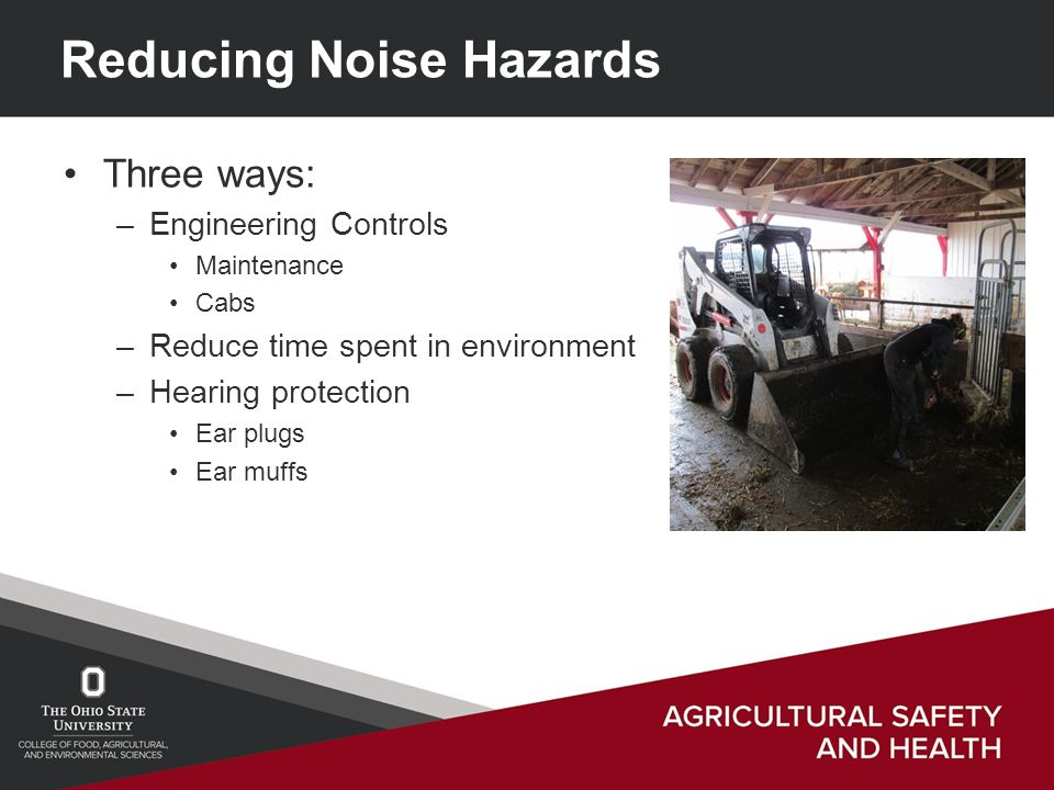 a look at noise on the farm
