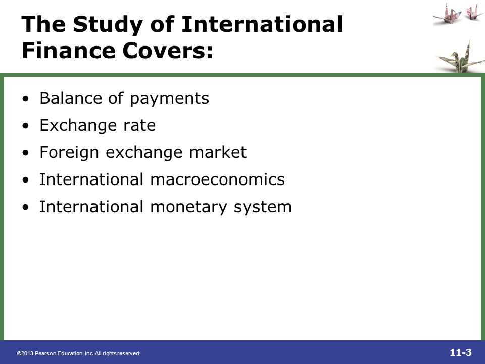 The Study of International Finance Covers: