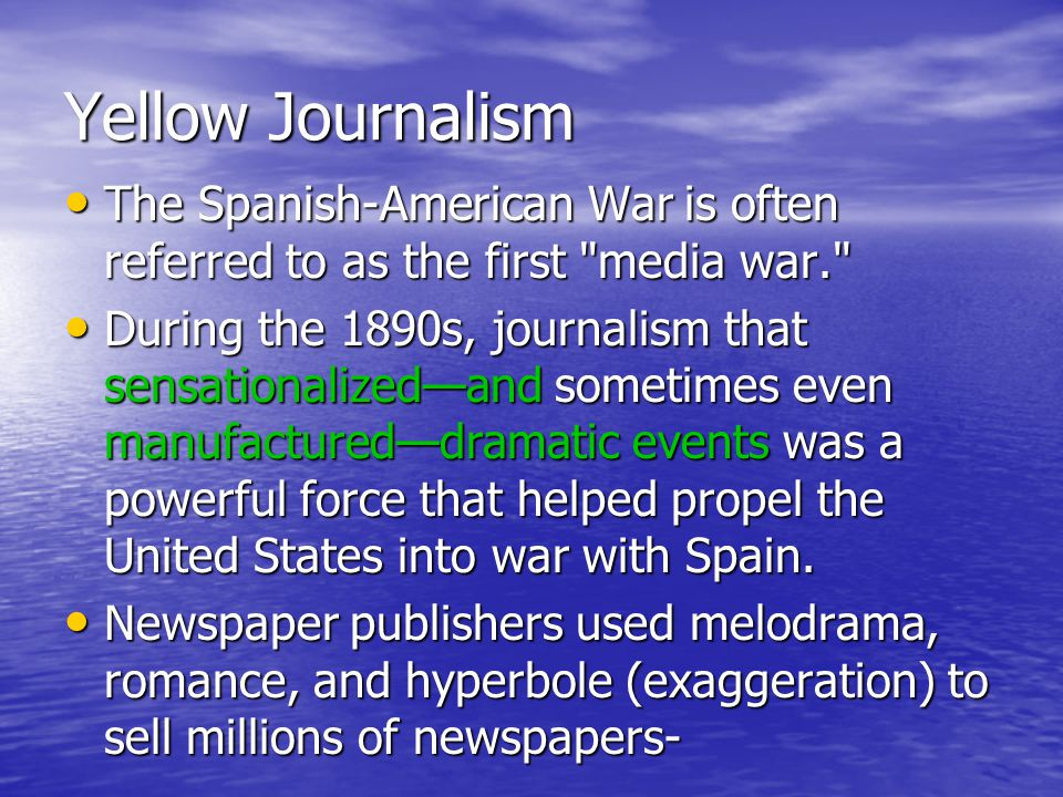 to what extent was 'yellow journalism Nearly everyone can, to an extent,  but those are fewer than we think the yellow journalism of the culture war makes many of those gaps seem wider than they are.