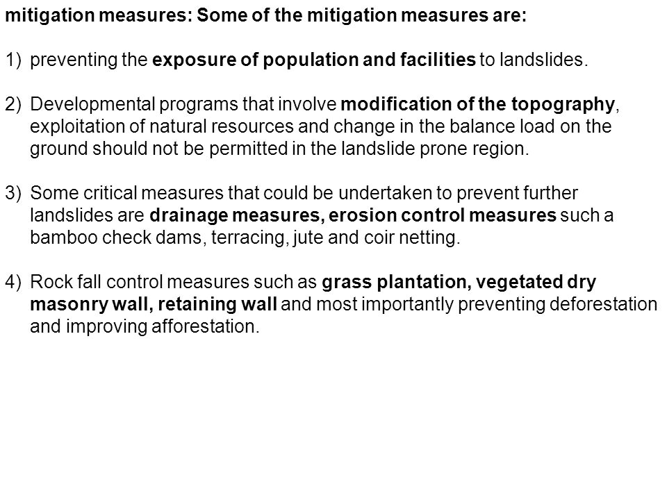the mitigation of vibrations essay The environmental impact assessment study is the part of the detailed design study for the construction of the cargo storage and handling facility, it is conducted to assess the environmental impacts of the project so as to develop an environmental management and mitigation plan to be implemented.