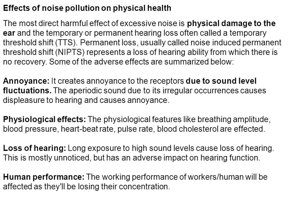 noise pollution causes and effects essay Below is an essay on the causes and effects of noise pollution from anti essays, your source for research papers, essays, and term paper defining noise can be a disturbing and physically painful to a lot of people and can caused hearing problems to many the noise pollution we deal with today is.